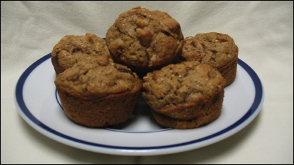 Apple Pecan Hemp Seed Muffins